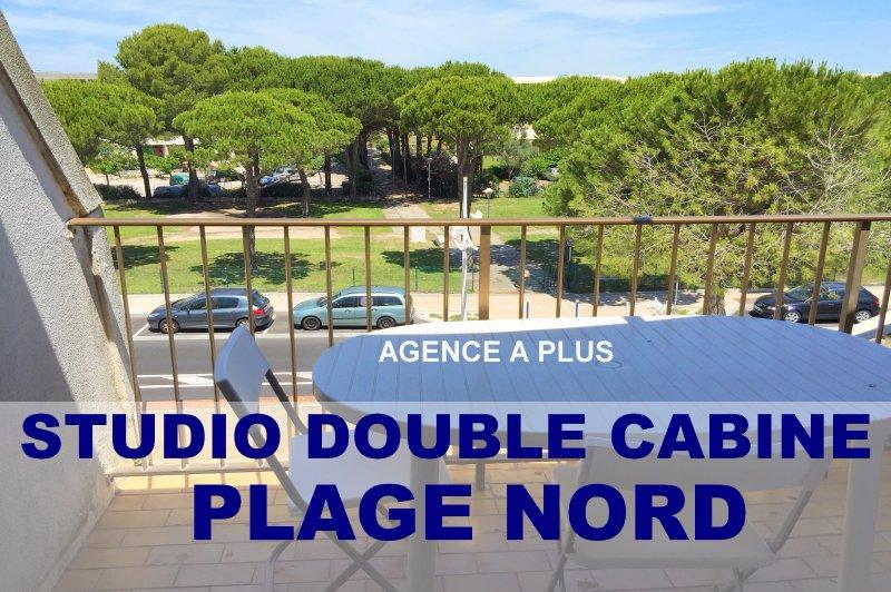 Vente vente studio double cabine 22 m plage nord for Cabine sulla sponda nord